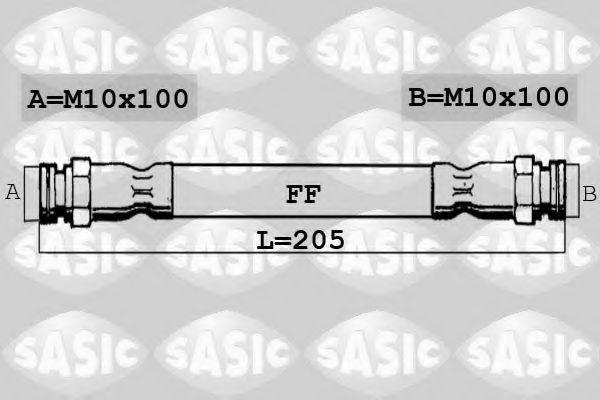 Шланг тормозной SASIC SBH0161
