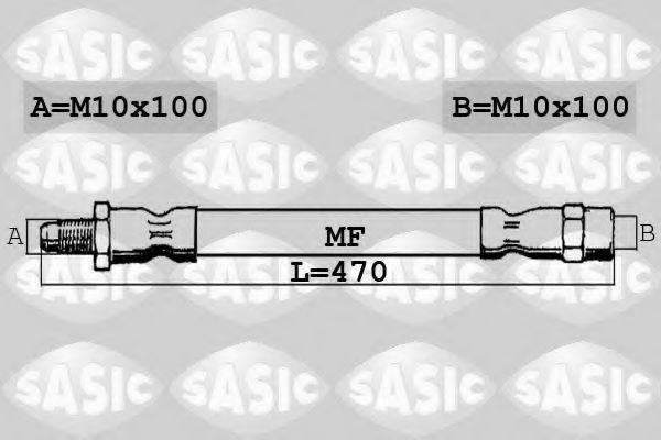 Шланг тормозной SASIC SBH0180