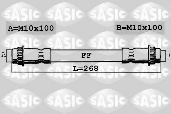 Шланг тормозной SASIC SBH4064