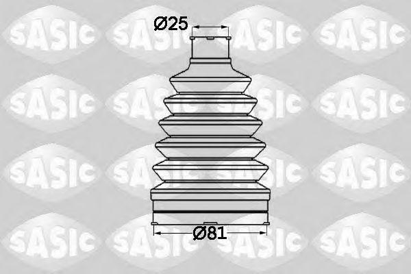 Пыльник ШРУС SASIC 1904012
