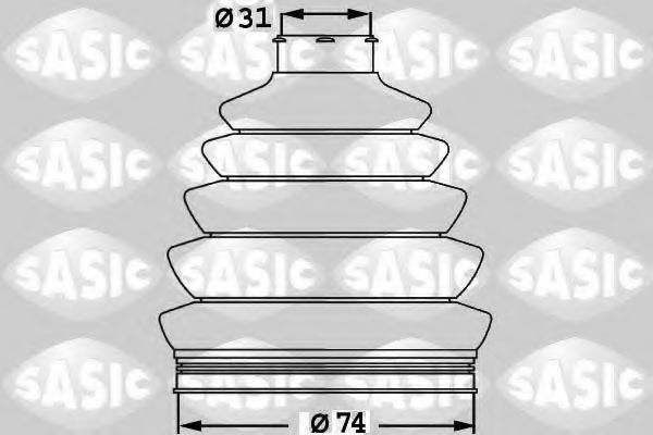 Пыльник ШРУС SASIC 1900017