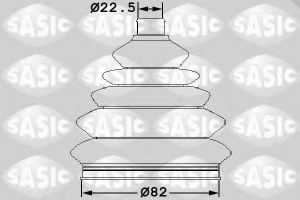 Комплект пылника, приводной вал SASIC 1904045