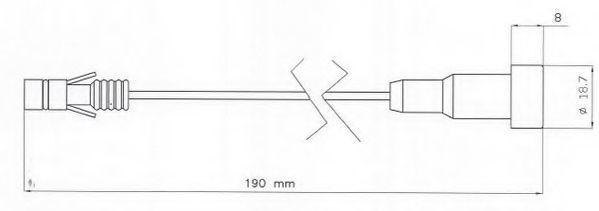 Сигнализатор, износ тормозных колодок BERAL UAI202