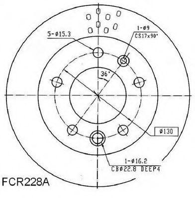 Тормозной диск BERAL BCR228A