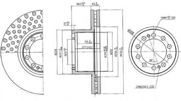 Диск тормозной BERAL BCR323A