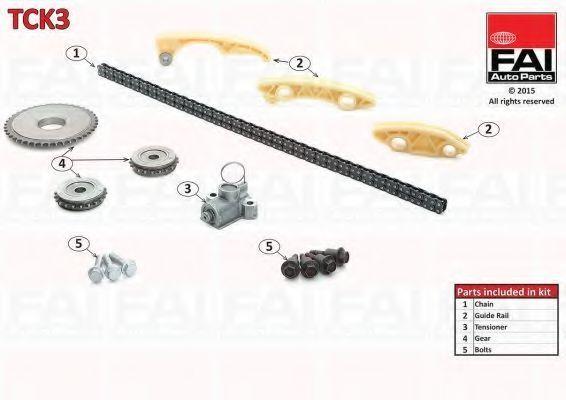 Ремкомплект цепи ГРМ FAI TCK3