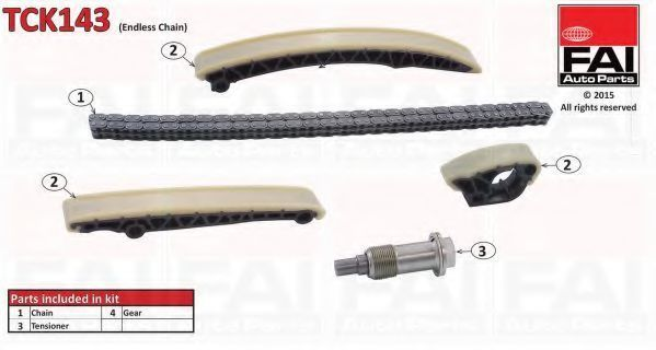 Ремкомплект цепи ГРМ FAI TCK143