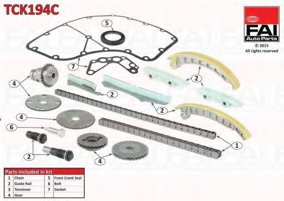 Комплект цепи ГРМ FAI TCK194C