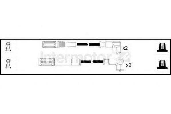 Комплект проводов зажигания HIGH VOLT 76122