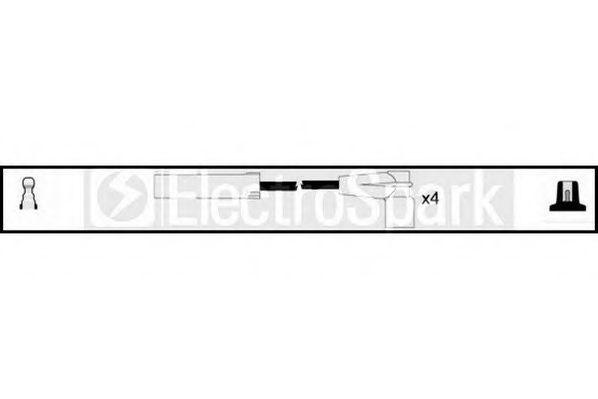 Комплект проводов зажигания HIGH VOLT OEK410