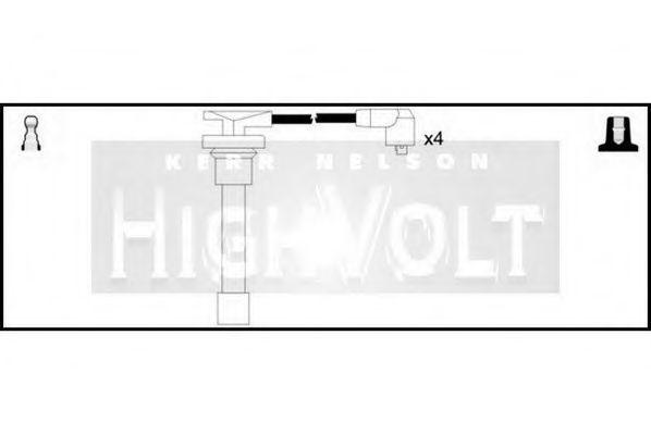 Провода высоковольтные комплект HIGH VOLT OEF375