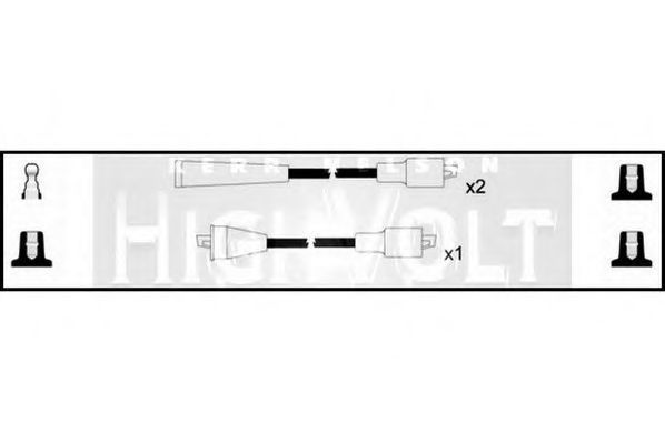 Комплект проводов зажигания HIGH VOLT OEF530