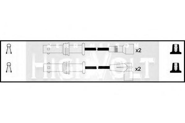 Провода высоковольтные комплект HIGH VOLT OEF403
