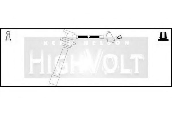 Провода высоковольтные комплект HIGH VOLT OEF581