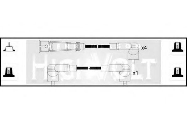 Провода высоковольтные комплект HIGH VOLT OEF122