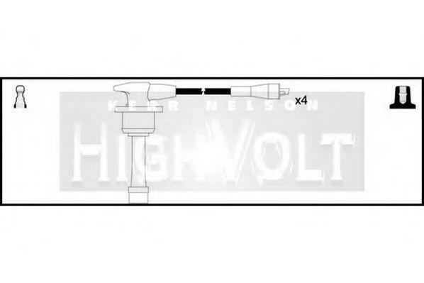 Провода высоковольтные комплект HIGH VOLT OEF205
