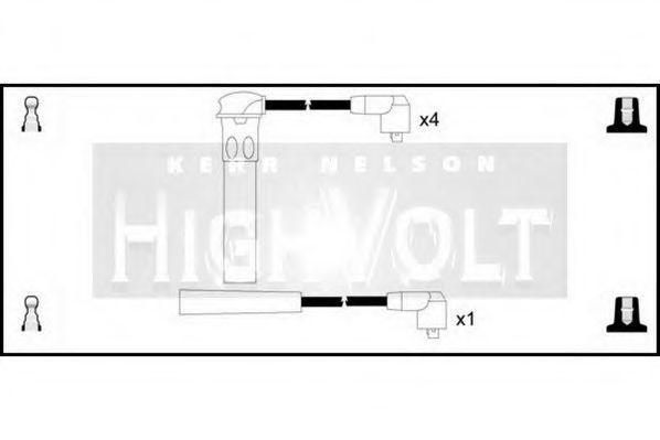 Провода высоковольтные комплект HIGH VOLT OEF008