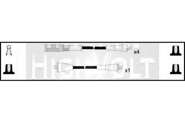 Комплект проводов зажигания HIGH VOLT OEF908