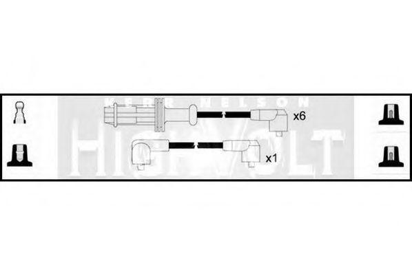 Провода высоковольтные комплект HIGH VOLT OEF422