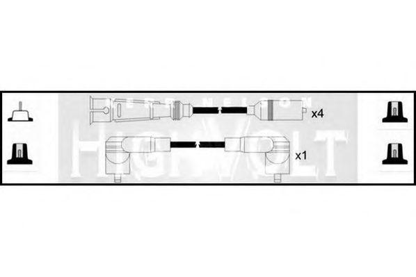 Провода высоковольтные комплект HIGH VOLT OEF040