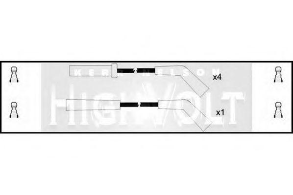 Провода высоковольтные комплект HIGH VOLT OEF523