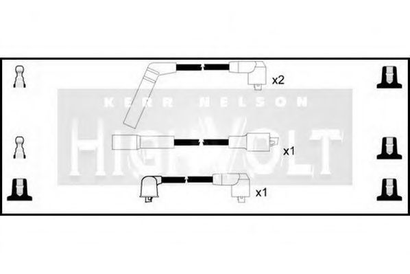 Провода высоковольтные комплект HIGH VOLT OEF633