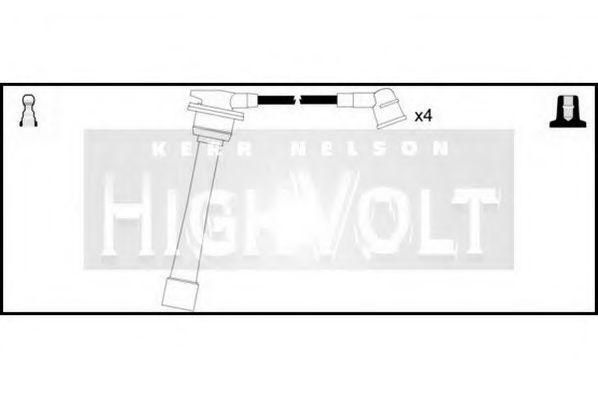 Комплект проводов зажигания HIGH VOLT OEF058
