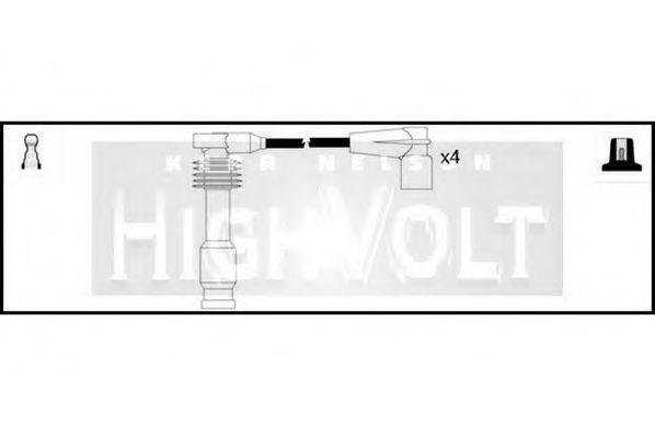 Комплект проводов зажигания STANDARD OEF002