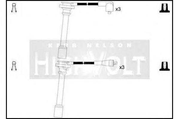 Провода высоковольтные комплект HIGH VOLT OEF201