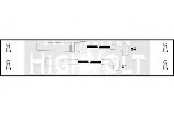 Провода высоковольтные комплект HIGH VOLT OEF007