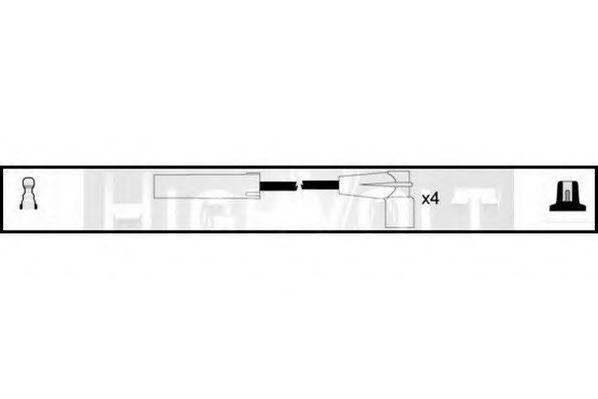 Комплект проводов зажигания STANDARD OEF129