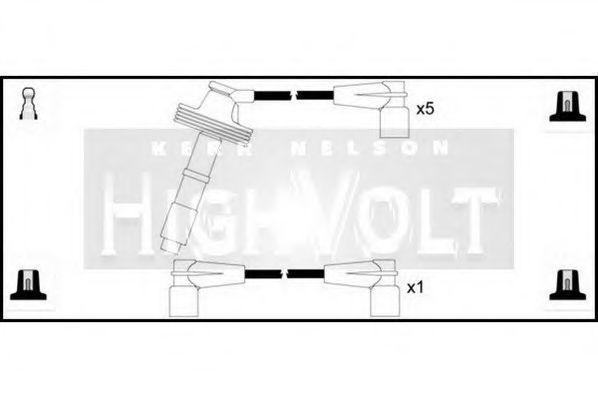 Провода высоковольтные комплект HIGH VOLT OEF507