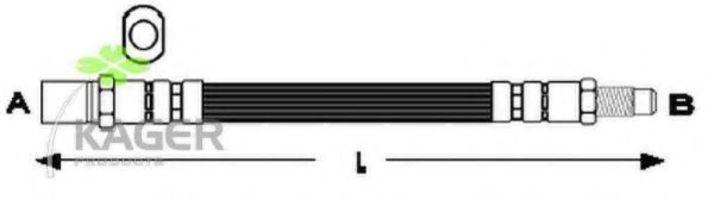 Шланг тормозной KAGER 380193