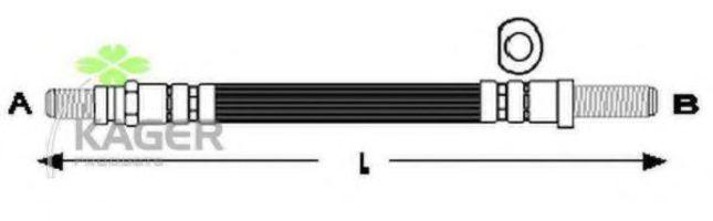 Шланг тормозной задний KAGER 380297