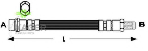 Шланг тормозной KAGER 380330