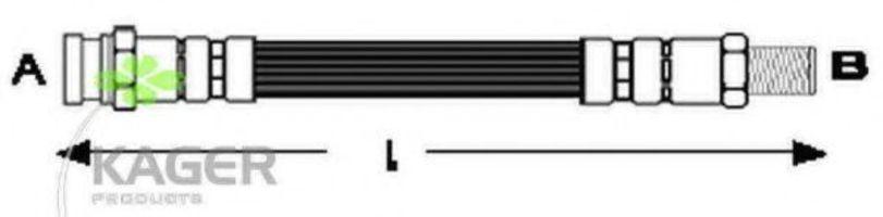 Шланг тормозной задний KAGER 380417