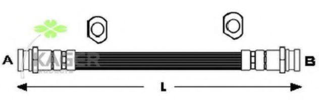 Шланг тормозной задний KAGER 380421