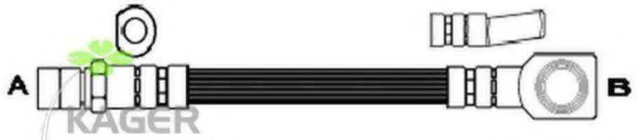 Шланг тормозной передний KAGER 380517