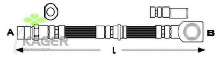 Шланг тормозной KAGER 38-0536