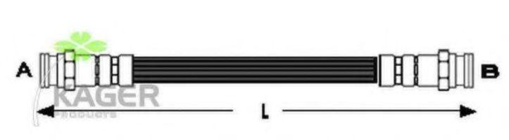 Тормозной шланг KAGER 380542