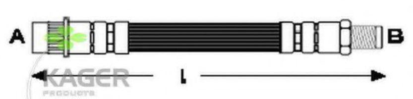 Шланг тормозной KAGER 380131