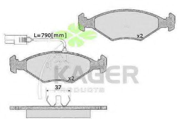 Колодки тормозные KAGER 35-0045