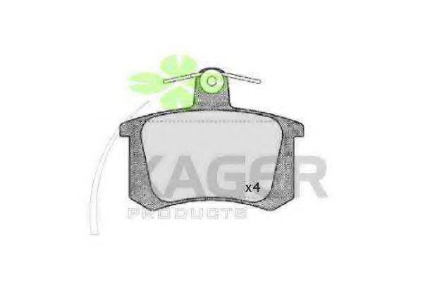 Колодки тормозные KAGER 35-0046