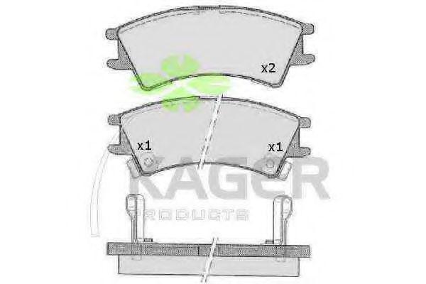 Колодки тормозные KAGER 350065