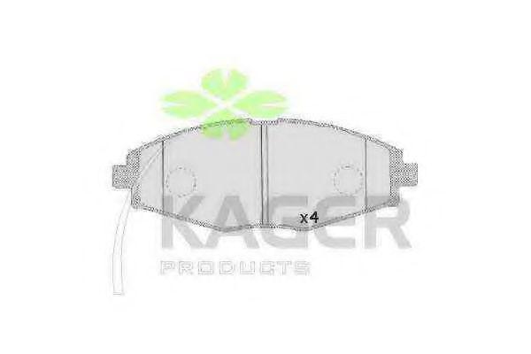 Колодки тормозные KAGER 35-0099