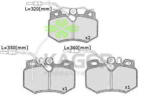 Колодки тормозные KAGER 35-0179