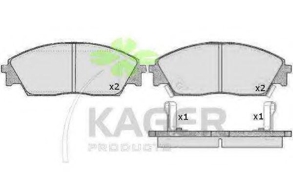 Колодки тормозные KAGER 35-0300