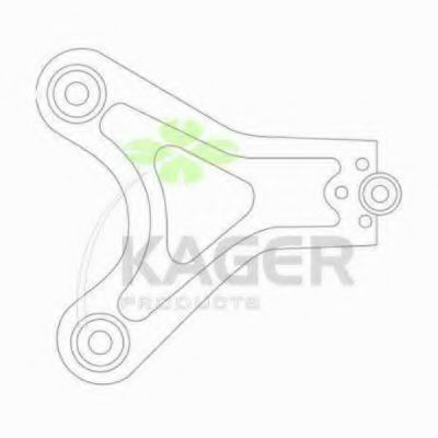 Рычаг независимой подвески колеса, подвеска колеса KAGER 870714