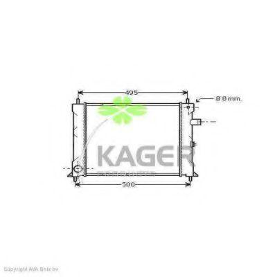 Радиатор охлаждения KAGER 310082