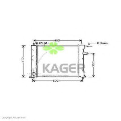 Радиатор охлаждения KAGER 310084